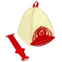 Набор банный: шапка + набедренный фартук пожарный