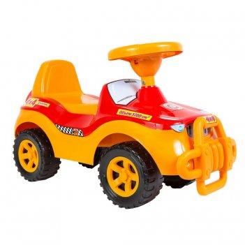 Ор105 каталка машинка джипик с клаксоном красная
