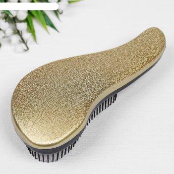 Расчёска-мини массажная, цвет золотой