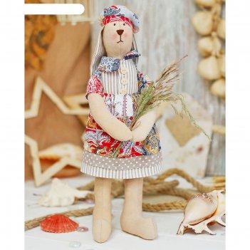 Набор для шитья текстильной игрушки зайка руби