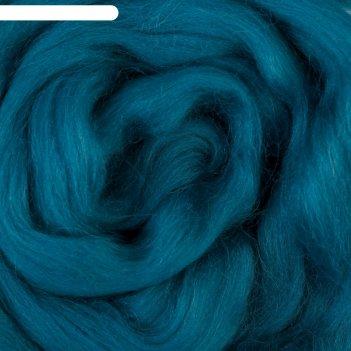Шерсть для валяния 100% полутонкая шерсть 50 гр (139 морс. волна) микс