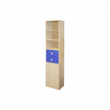 Шкаф-стеллаж жили-были, цвет мадейра/синий