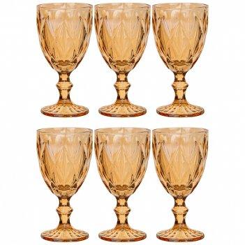 Набор бокалов для вина ромбо 6шт. 320мл. / в=17 см. серия muza ion