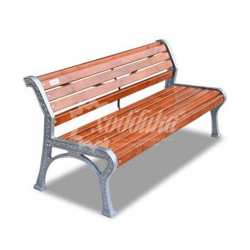 Скамейка алюминиевая «ретро стиль» без подлокотников 3,0 м