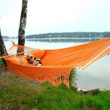 Гамак двухместный lite forro оранжевый для хобби и пикника