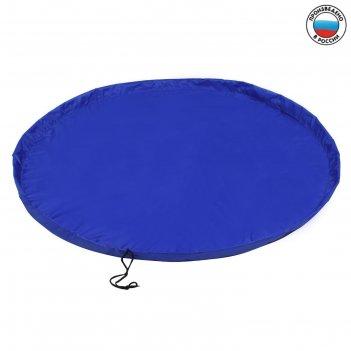 Развивающий коврик - сумка для игрушек «василек», d150