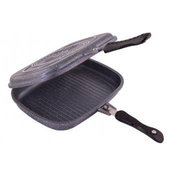 Сковорода-гриль двойная 32см grey stone тм appetite