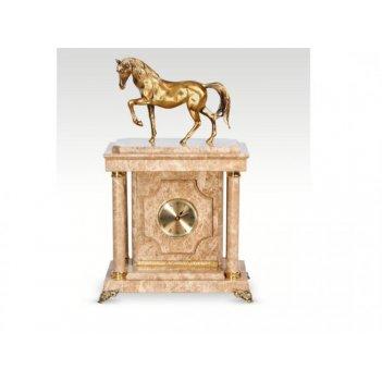 Часы-сейф из мраморалошадь(арт.с-038)