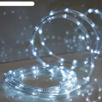 Led шнур 10 мм, круглый, 20 м, чейзинг, led/м-24-220v, с контр. 8р, белый