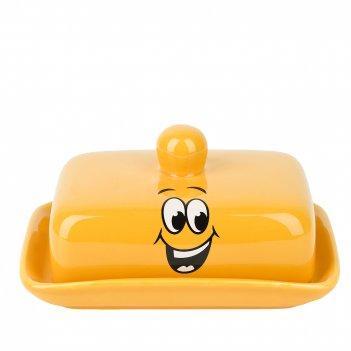 Масленка smile 17*12,5*8,5см. (керамика) (подарочная упаковка)