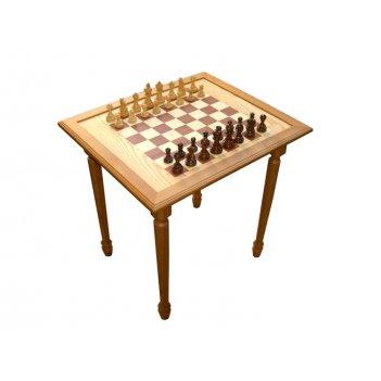 Стол шахматный массив березы 55х65х65