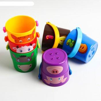 Набор игрушек для ванной, ведерки 6 предметов