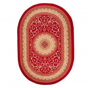 Ковер овальный султан, размер 200х300 см, цвет красный 31/2, войлок 195г/м