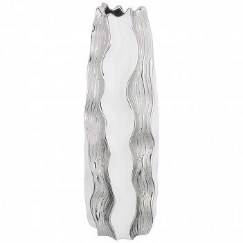 Ваза декоративная серебряная коллекция 15*15*44,5 см (кор=6 шт.)