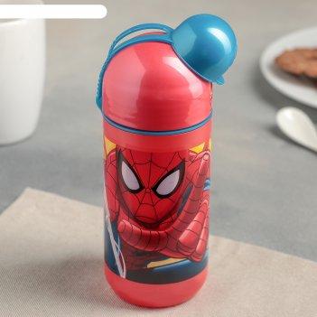 Бутылка пластиковая 400 мл человек-паук. красная паутина