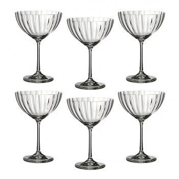 Набор бокалов для шампанского из 6 шт. waterfall 340 мл высота=18 см (кор=