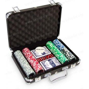 (200) набор для покера 200 фишек golden eagle голографический