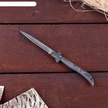 Нож складной неавтоматический тонкий, рукоять - дракон