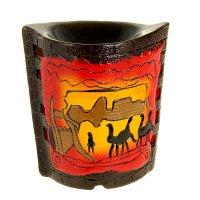 Ночник-арома настольный керамика от 220v караван 15х14х9,8 см