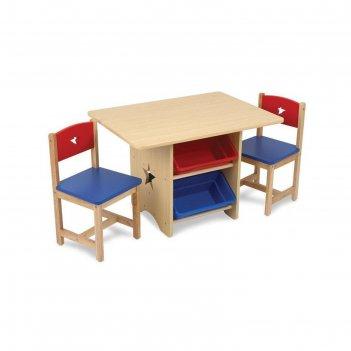 Набор детской мебели star: стол, 2 стула, 4 ящика
