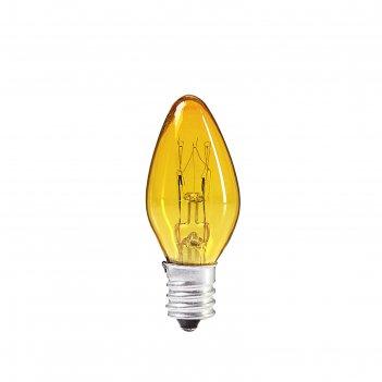 Лампочка накаливания e12, 10 вт, для ночников и гирлянд, жёлтая, 220 в