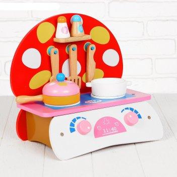 Игровой набор кухня. грибочек, деревянная посуда в наборе