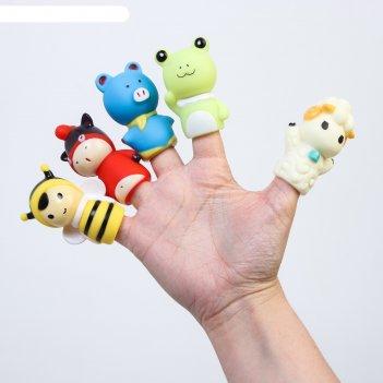 Набор игрушек для купания, пальчиковый театр «милые животные»