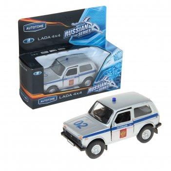 Машина металлическая lada 4x4 полиция 1:36 37026