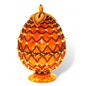 Яйцо пасхальное из янтаря 0759