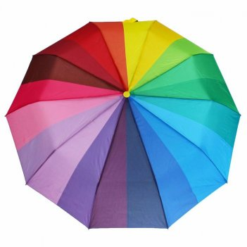 Зонт полуавтомат радуга, №4 147, r=49см, разноцветный, ручка микс