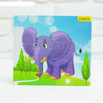 Пазл магнитный слон
