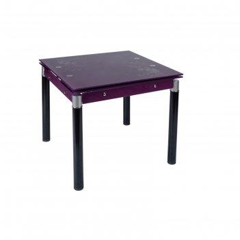 Стол раскладной в179-16, 830(1300) x 830 x 760 мм, калёное стекло 8 мм, цв