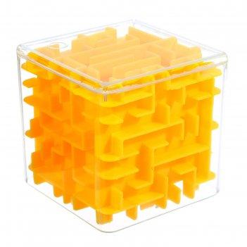 Головоломка-лабиринт квадрат, цвет жёлтый