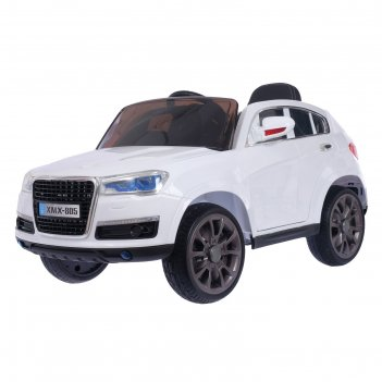 Электромобиль «кроссовер», 2 мотора, eva колёса, кожаное сидение, цвет бел