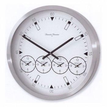 540 b часы настенные 5 в 1  алюминий,d.55, белые