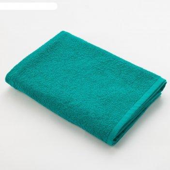 Полотенце махровое «экономь и я», размер 50х90 см, цвет светло-зелёный