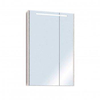 Зеркало-шкаф верди 60 1a206902vdav0, цвет белый/ясень фабрик
