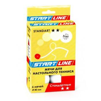 Мячи standart для настольного тенниса, 6 мячей уп., белые