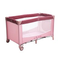 Манеж-кроватка little king lb-612,  розовый