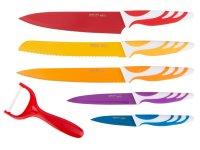 Набор ножей нжс с полимерным покрытием и овощечист...