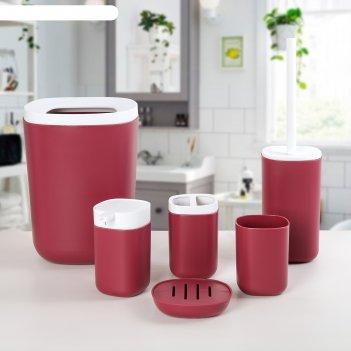 Набор для ванной стиль 6 предм. (мыльница, дозатор д/мыла,2 стакана, ершик