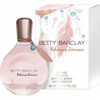 Туалетная вода betty barclay bohemian romance, 50 мл