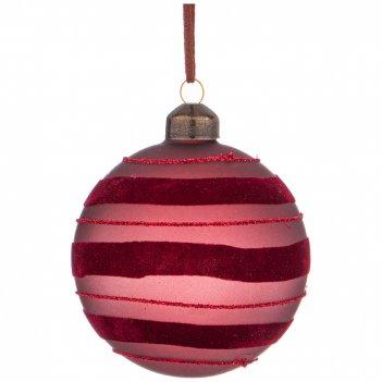 Елочное украшение шар коллекция ретро диаметр=8 см (мал-6 шт./кор=96шт.)