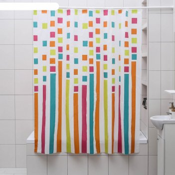 Штора для ванной палитра, 180*180 см, eva