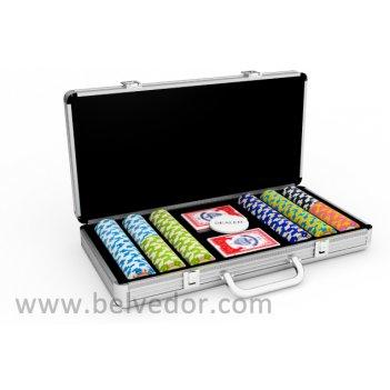 Набор для покера на 300 фишек monte carlo stars 14 гр.