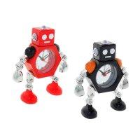 Часы настольные робот цвет микс 19*4,5*14 см.