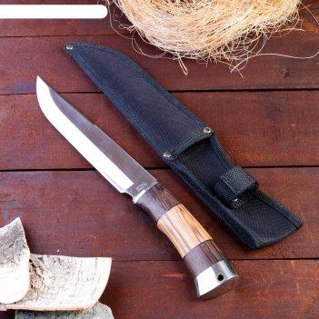 Нож разделочный, рукоять дерево, лезвие 21 см