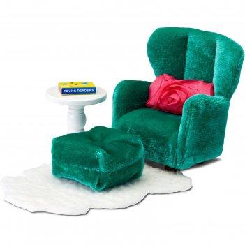 Мебель кукольная смоланд «кресло с пуфиком»
