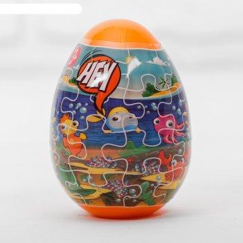 Тесто для лепки морские жители, пасхальное яйцо, 2 цвета по 20 г, формы, н
