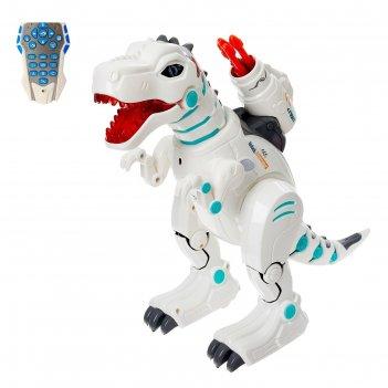 Робот радиоуправляемый, интерактивный киберзавр, выдыхает пар, работает от